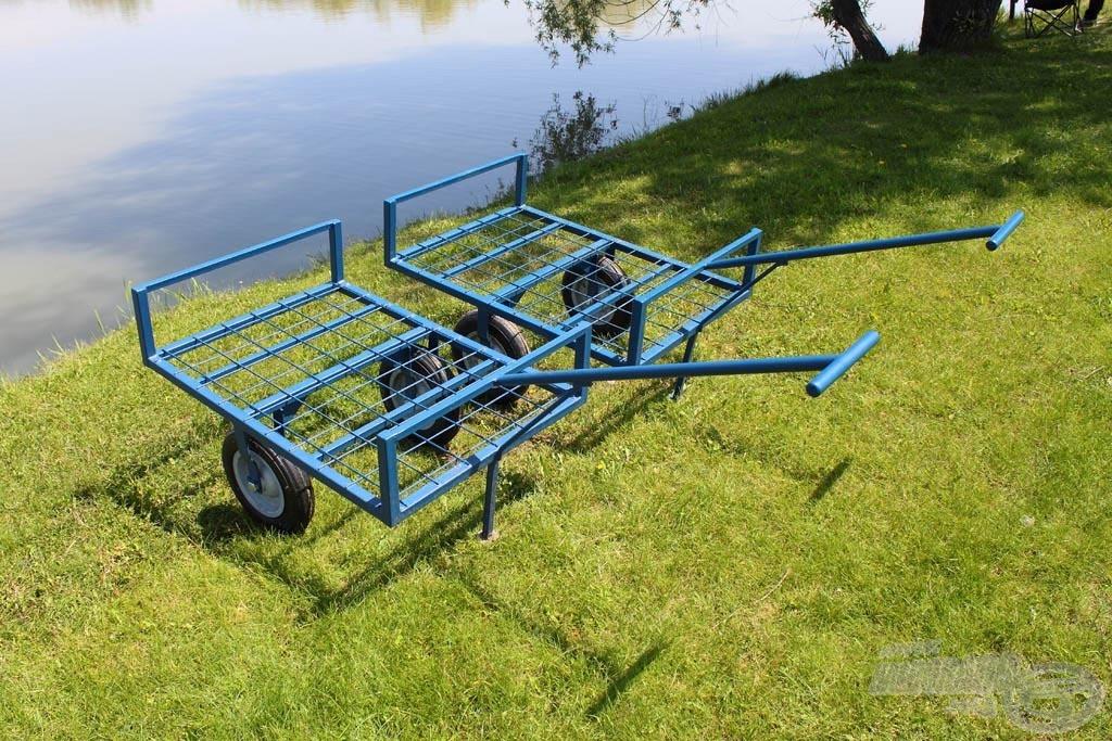 A helyszínen bérelhető kiskocsik segítségével könnyen szállíthatjuk felszelésünket akár a tó legtávolabbi pontjára is