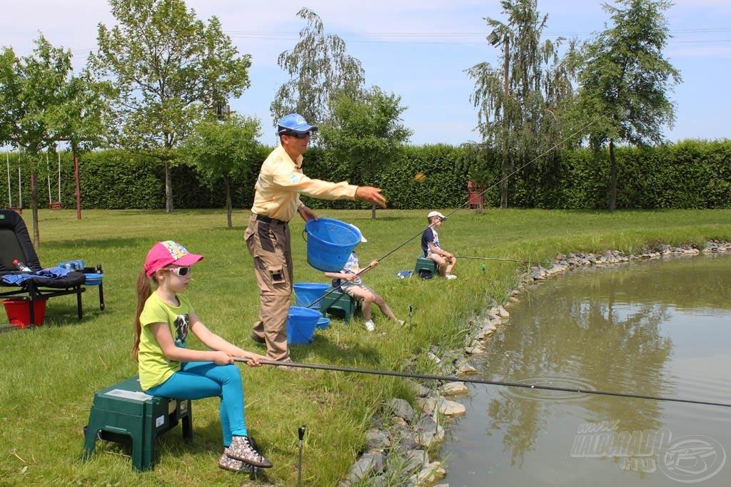 Ha gyerekekkel horgászunk, akkor nekünk, felnőtteknek a legfőbb dolgunk, hogy kiszolgáljuk és segítsük őket!
