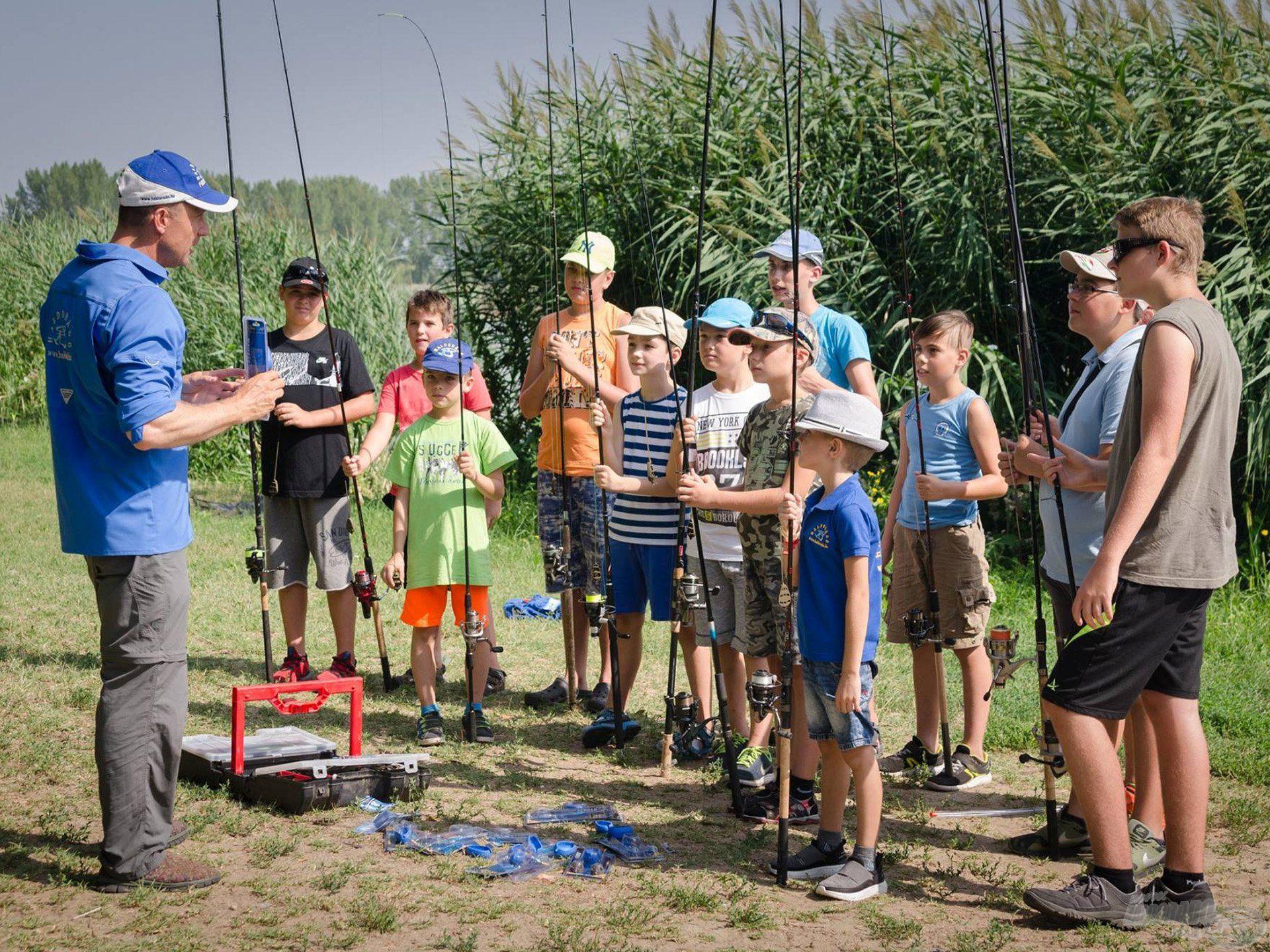 Gyermek horgásztábor Kiskunhalason