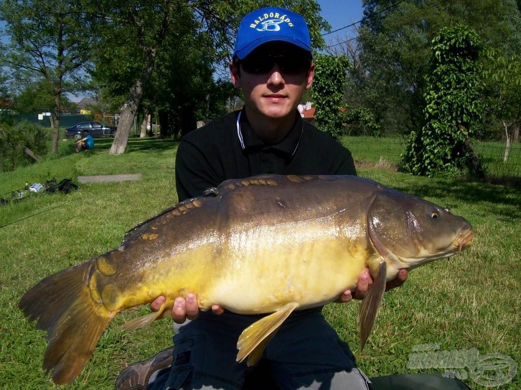 Ez a szépséges, 10,12 kg-os tükörponty megkoronázta a horgászatomat