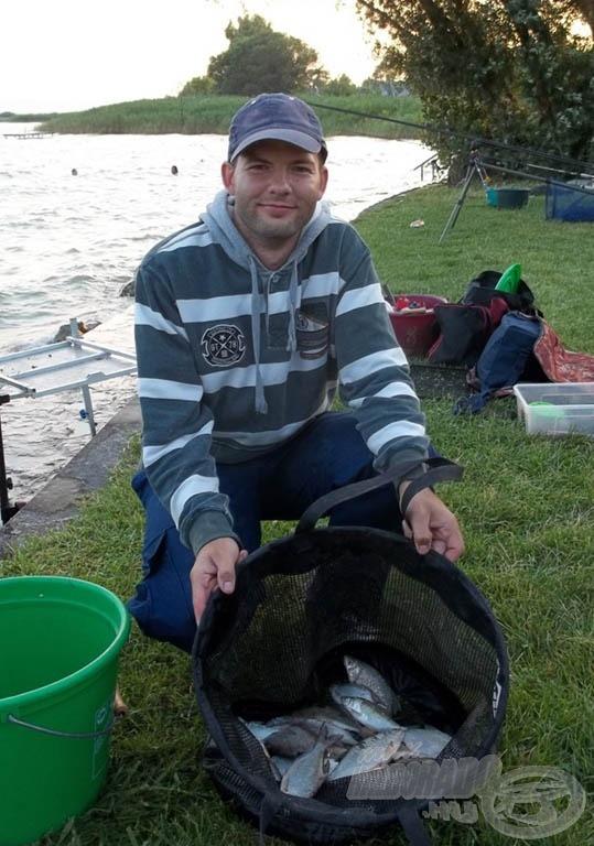 Gureega kupát érő szerény fehérhal zsákmánya