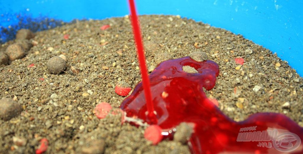 A halas alapra kevert édes aroma  a nyári vizekben is nyerő kombináció!