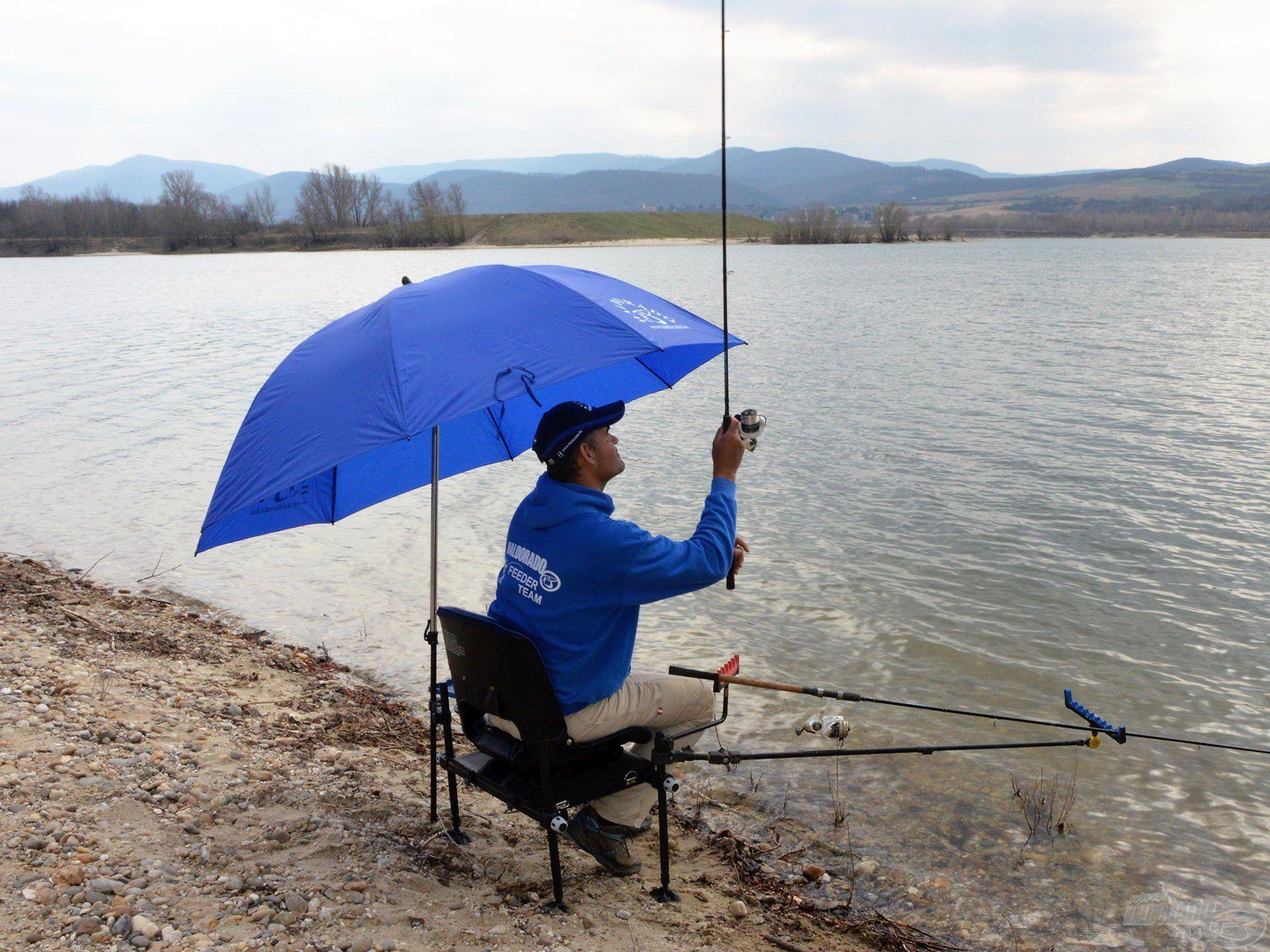 A jól beállított ernyő nem zavar a dobásban sem!
