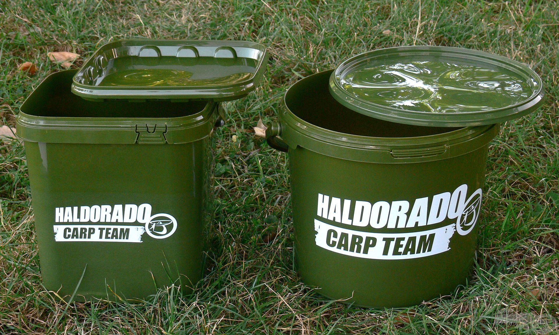 Legújabb típusaink az 5 liter űrtartalmú Carp Team vödrök, melyek a nagypontyos (zöld) stílussal szimpatizálók számára igazi hiánypótló érdekességek