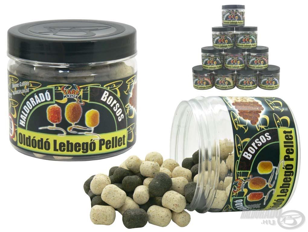 A Lebegő Oldódó Pellet ízválasztéka azonos a süllyedő változatéval, ugyanabban a 10 különböző nyerő ízben kaphatók, annyi különbséggel, hogy ennek dobozában 2 méret: 12 és 16 mm-es található