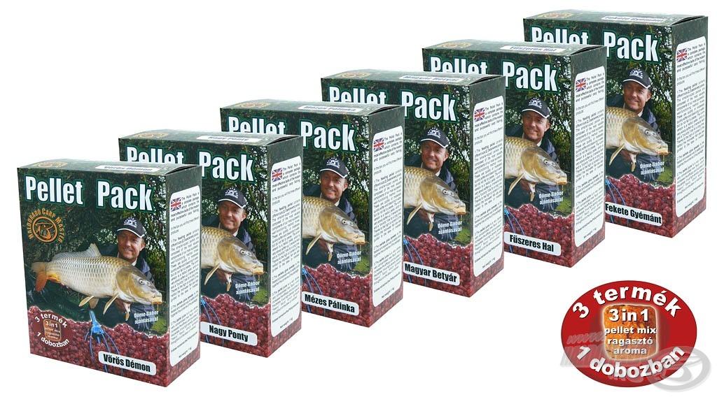 A Pellet Pack egy olyan komplett csomag, amely a céltudatos, szelektív pontyhorgászat egyik leghatékonyabb eszköze