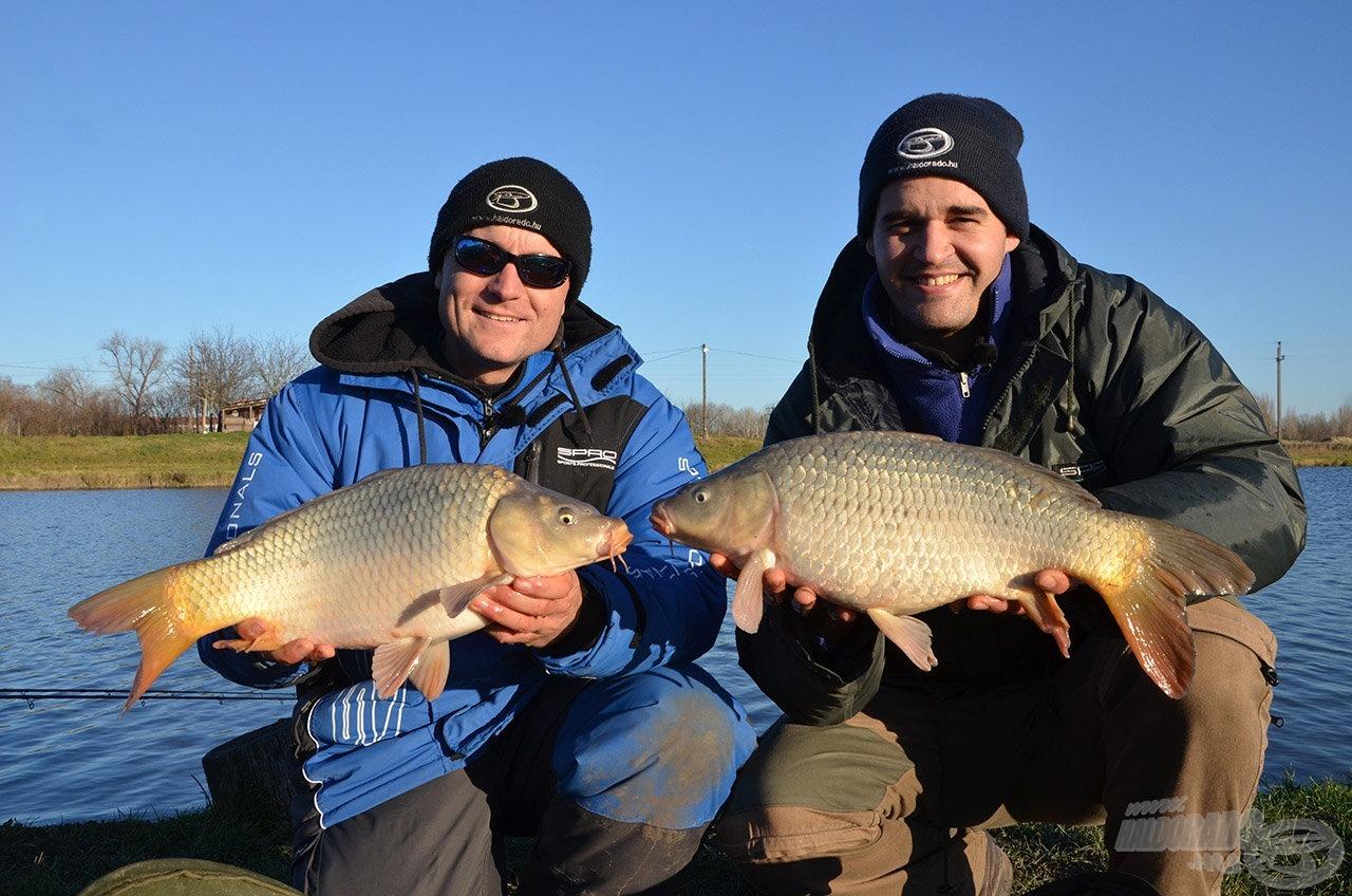 Ilyen halaknak örülhettünk decemberben, amikor az új Fluo termékekkel horgásztunk