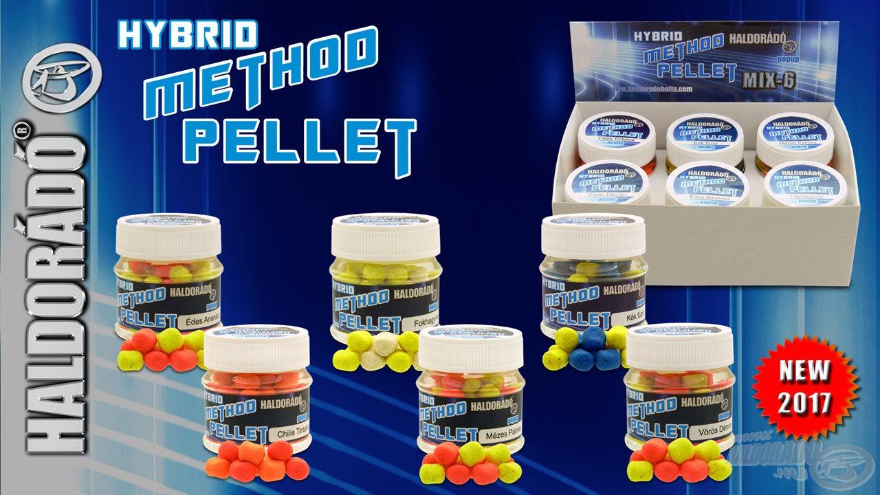 A Haldorádó Hybrid Method Pellet ideális, finom csali a method technikához