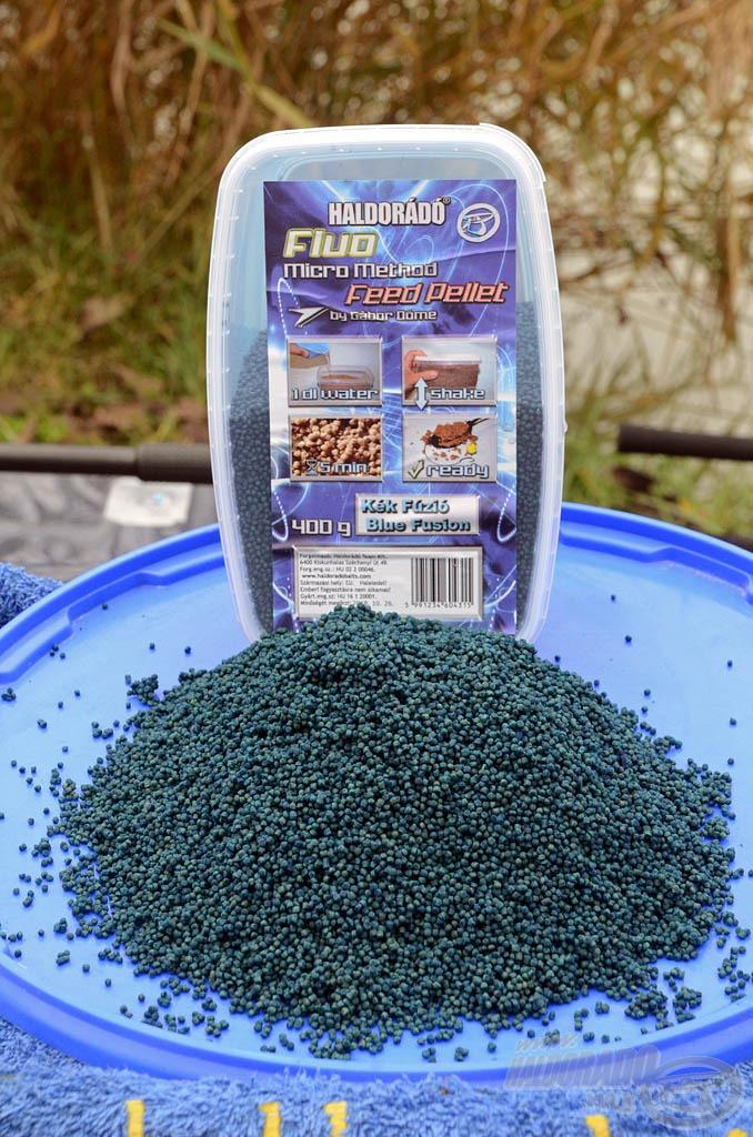 A Kék Fúzió Fluo Micro Method Feed Pellet a korábban megismert fogós változatokhoz hasonlóan egy nagyon egyszerűen elkészíthető, szelektív nagyhalas pellet mix…