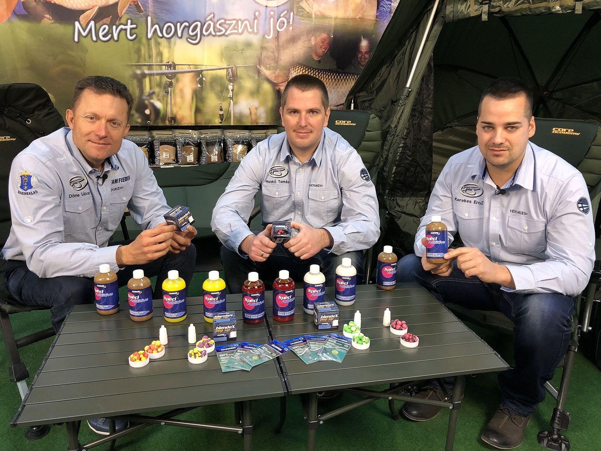 A Haldorádó Carp Team két jeles tagjával, Haskó Tamással és Kerekes Ernővel közösen olyan különleges, nagyhalas termékeken dolgoztunk, amik a modern, rapid nagyponty-horgászat elvárásait hivatottak teljesíteni