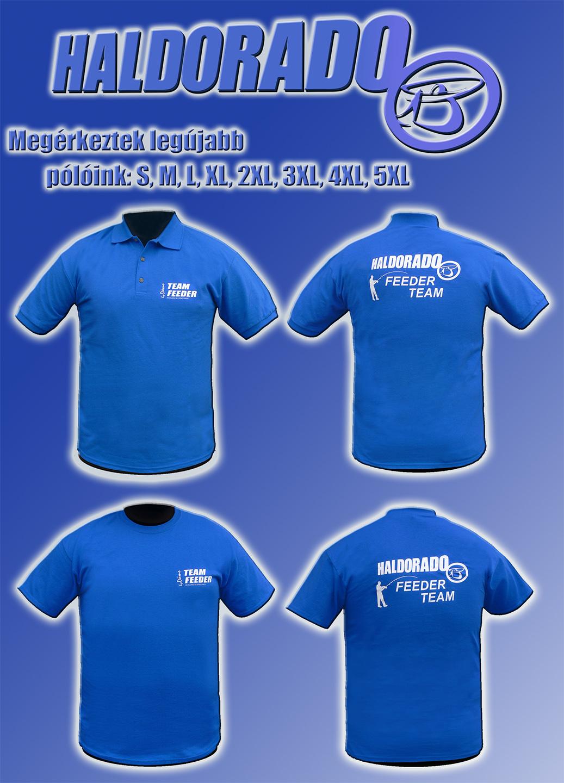 Az új Haldorádó FEEDER TEAM póló elérhető galléros változatban és környakas kivitelben is