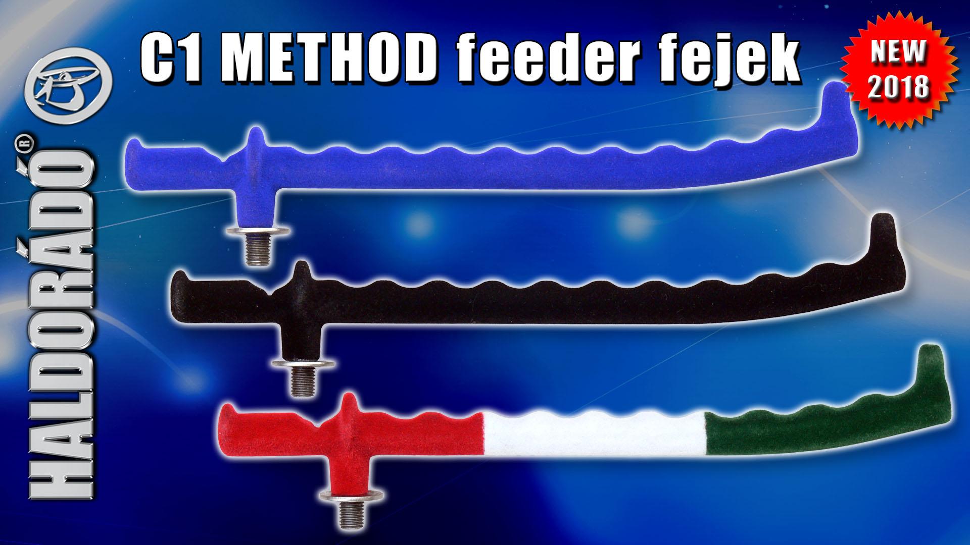 Különleges formájú, tökéletes method bottartó fejek alkotják a C1 METHOD szériát, mely három színben kapható