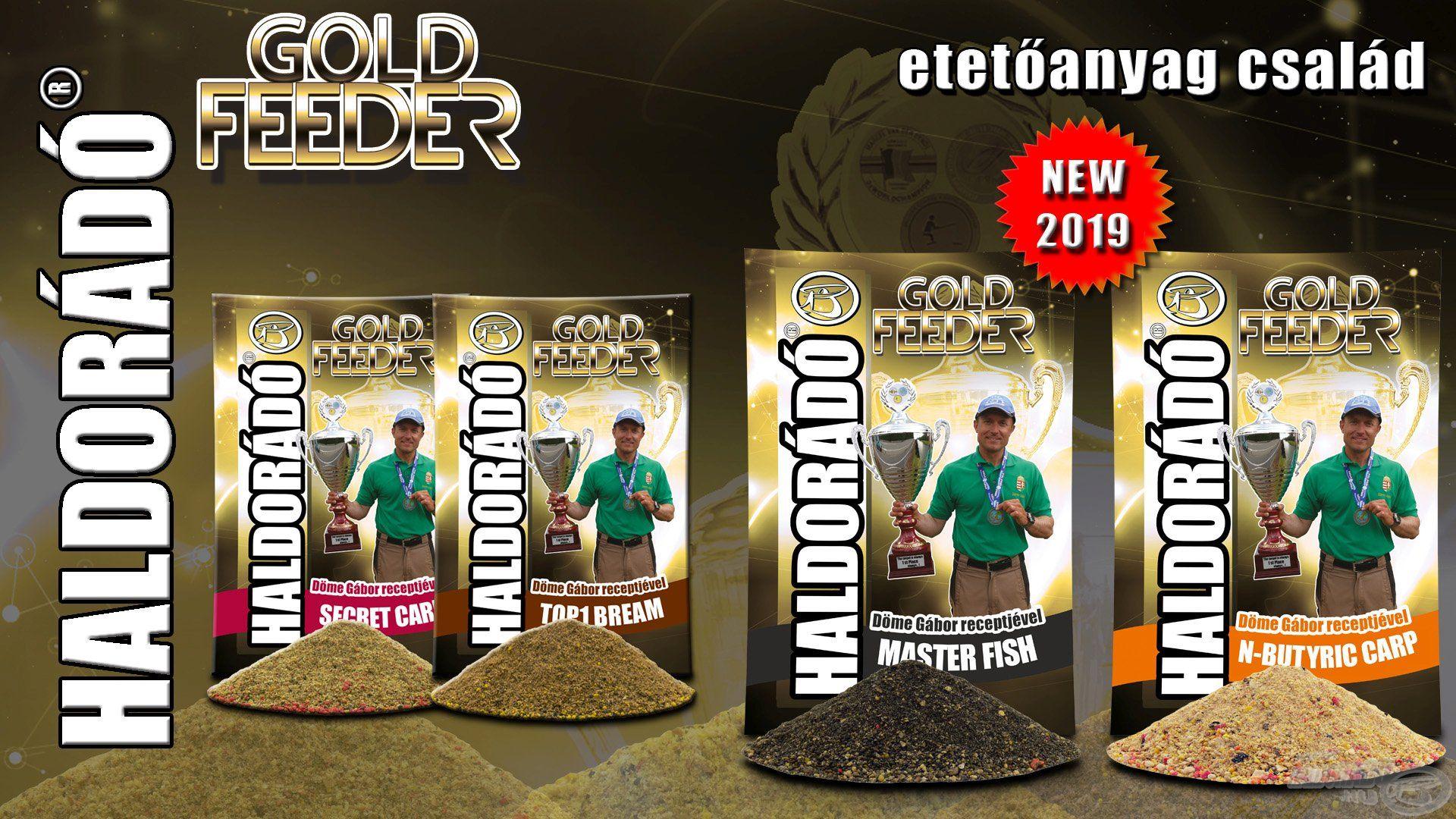 A Haldorádó Gold Feeder etetőanyag kínálat a Haldorádó Feeder Team (elsősorban Sipos Gábor és jómagam) munkáját dicséri