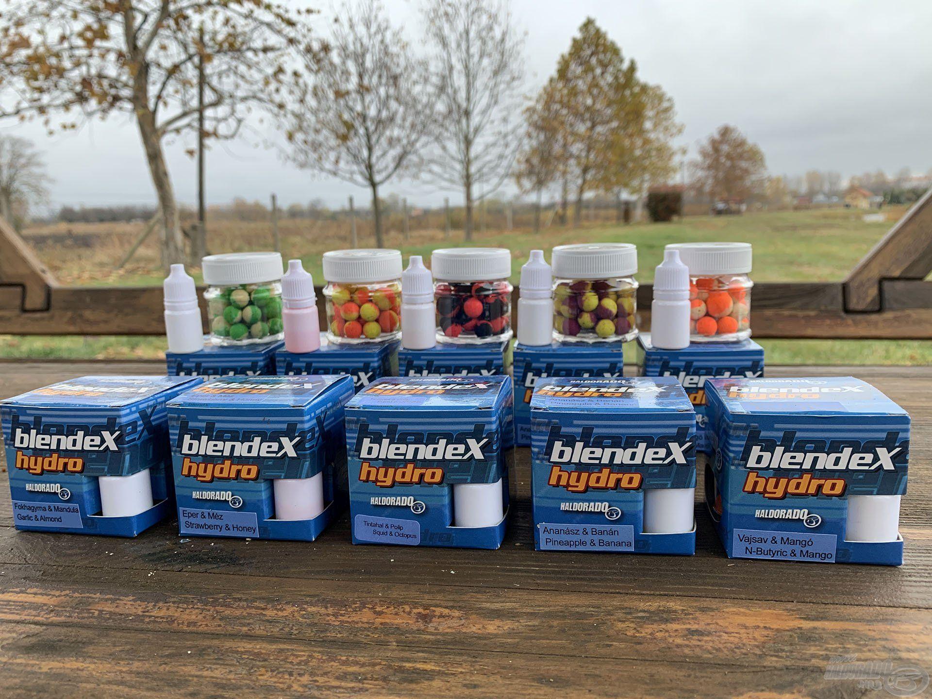 A BlendeX Hydro csalik a Pop Up családdal azonos, 5 különféle ízváltozatban, illetve Method és Big Carps méretekben kerülnek forgalomba