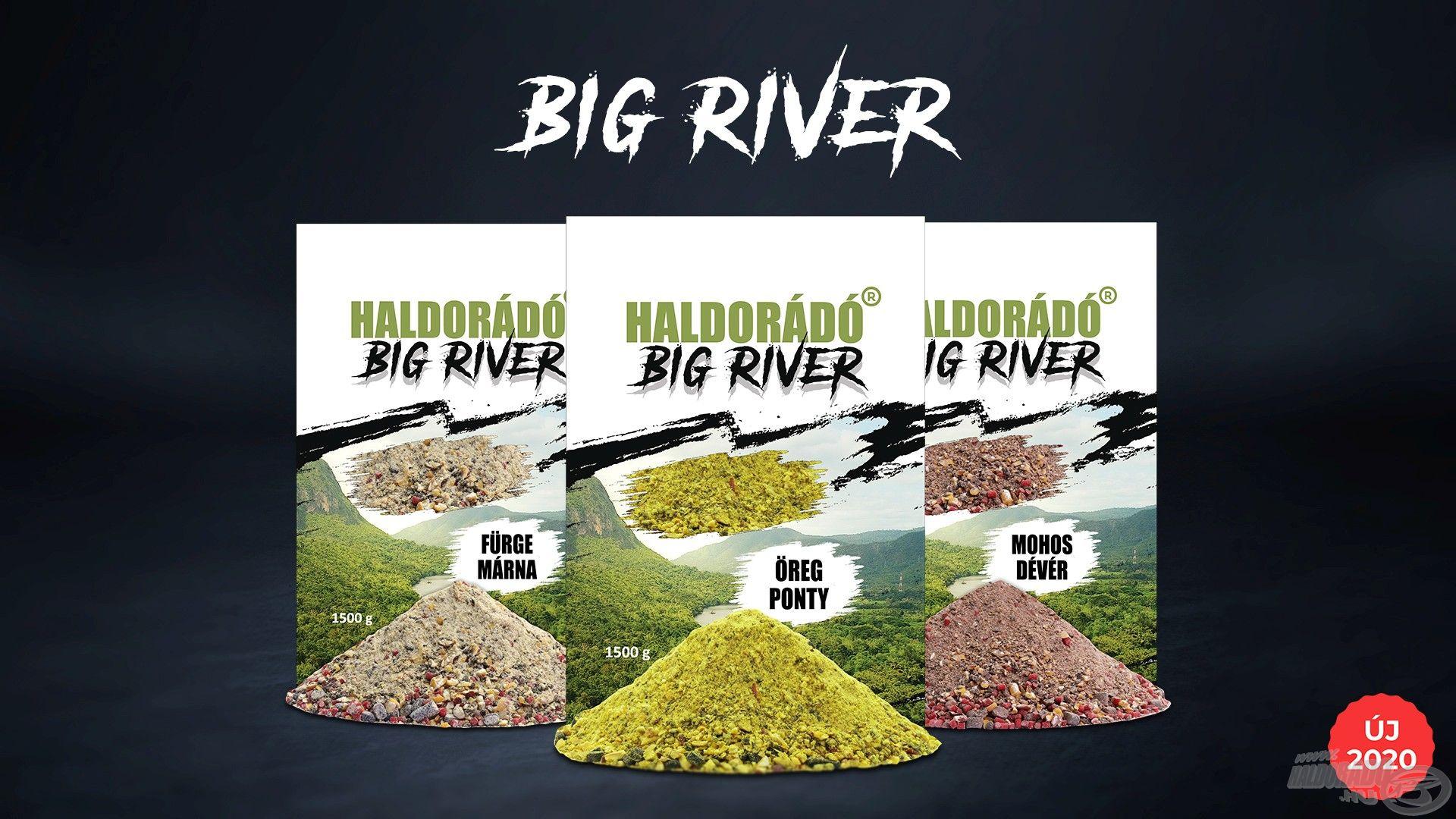 A Haldorádó Big River etetőanyag család három taggal jelent meg cégünk palettáján