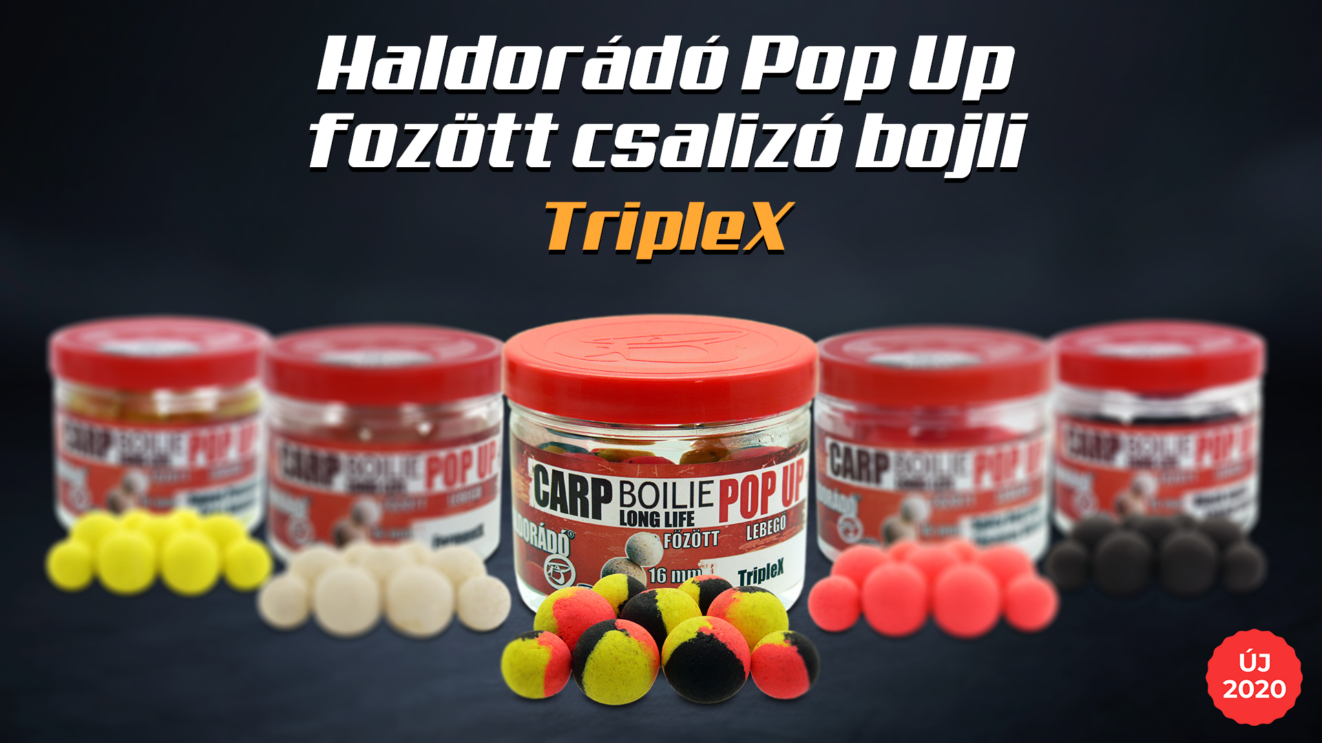 A megnövelt méretű Carp Boilie termékekhez igazítottuk a Pop Up főzött csalizó bojlik méretét is, és természetesen itt sem maradhatott ki a TripleX