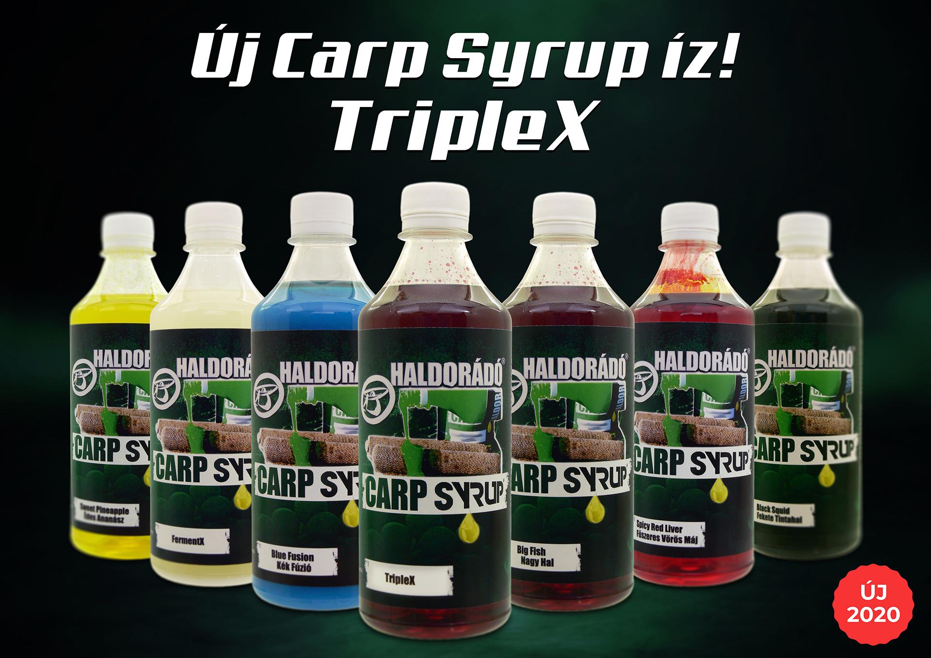 A Carp Syrup aromacsalád kifejezetten a szelektív nagyhalas horgászatokhoz ad hatékony segítséget, 2020-tól immár TripleX kivitelben is!