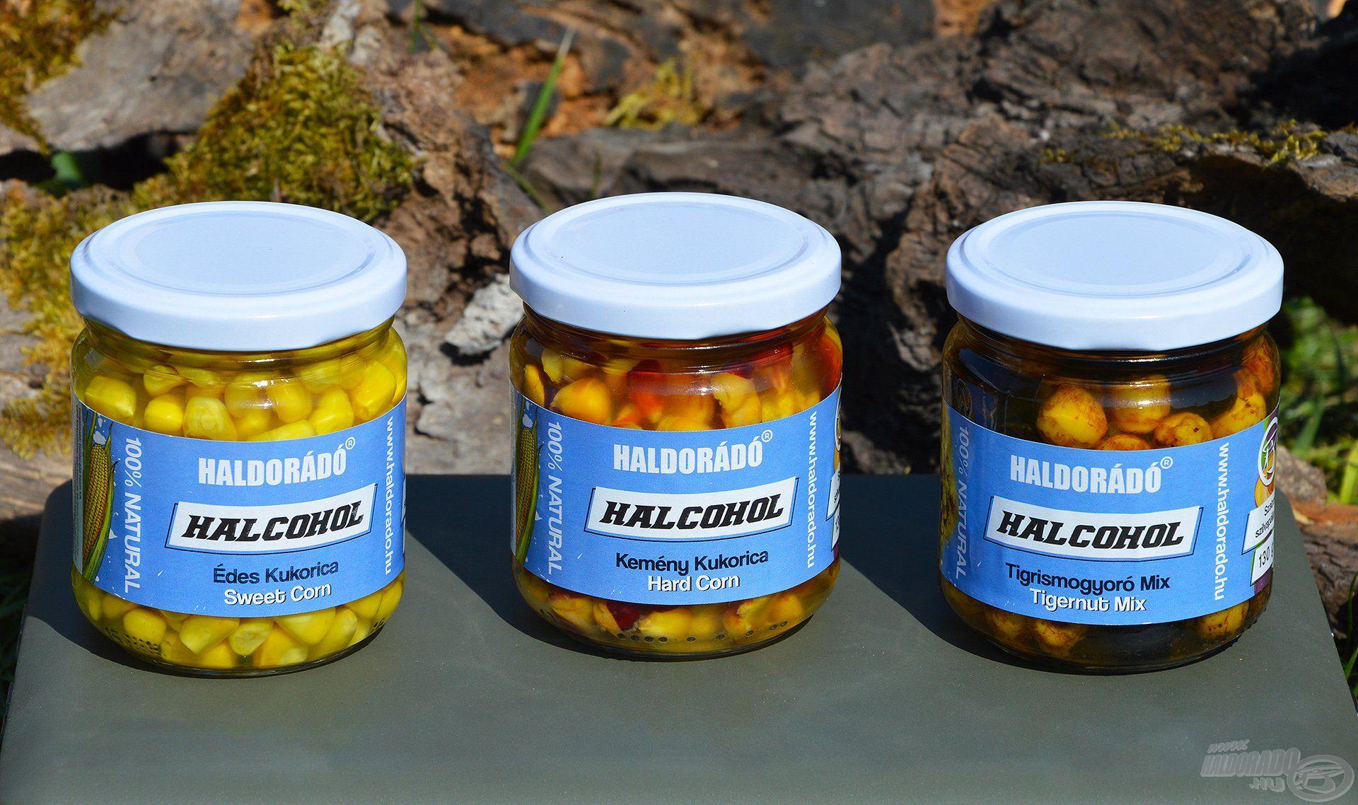A Halcohol nem csupán ízesített, hanem valódi szatmári szilvapálinkában ázó, horgászatra előkészített magvak termékcsaládja. Három különböző változatban kerül forgalomba