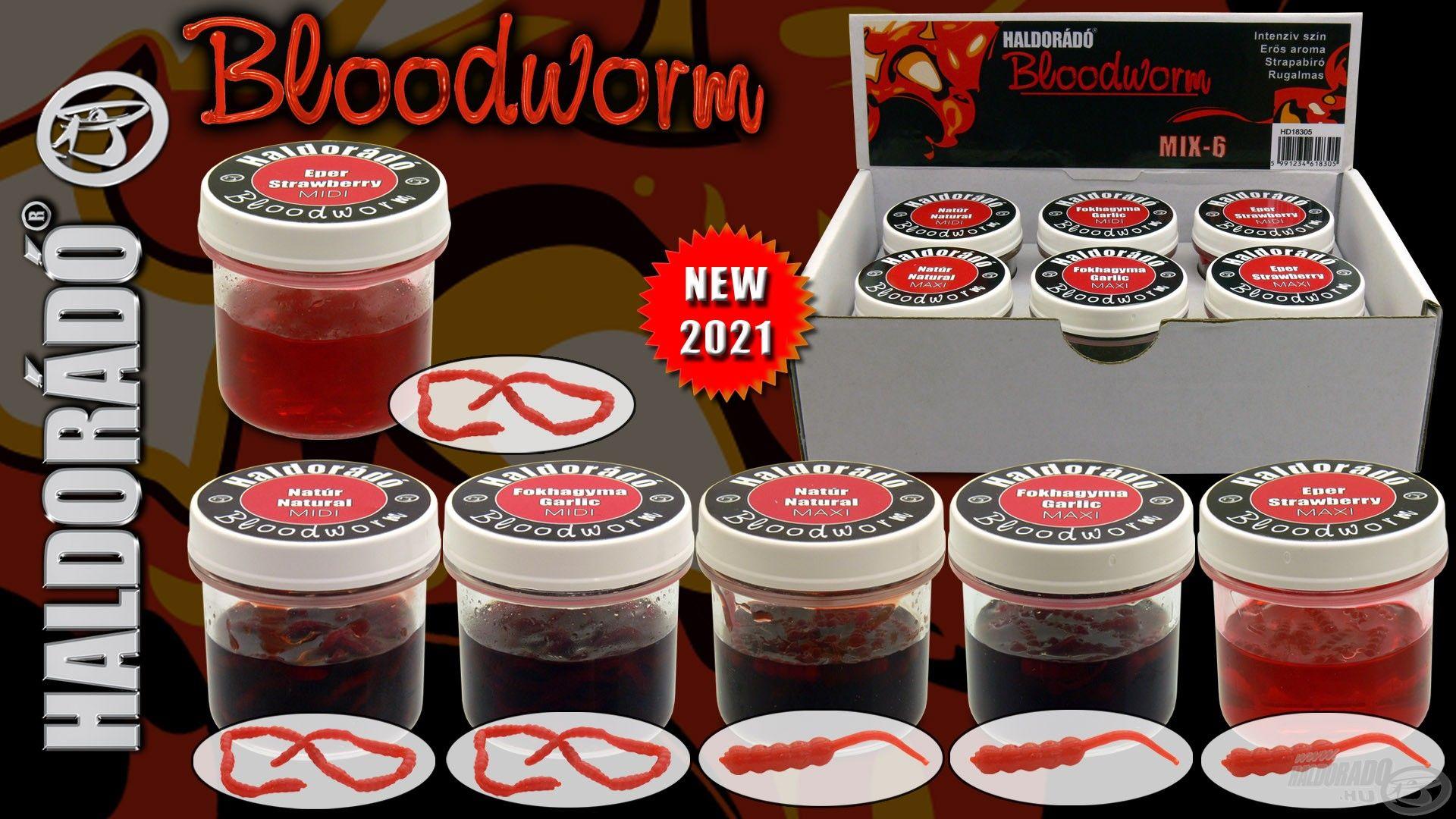 2021-től egy különleges, a palettánkról eddig hiányzó csalit, a Bloodworm változatot, vagyis a szúnyoglárvát is kínáljuk a finomszerelékes horgászat szerelmeseinek