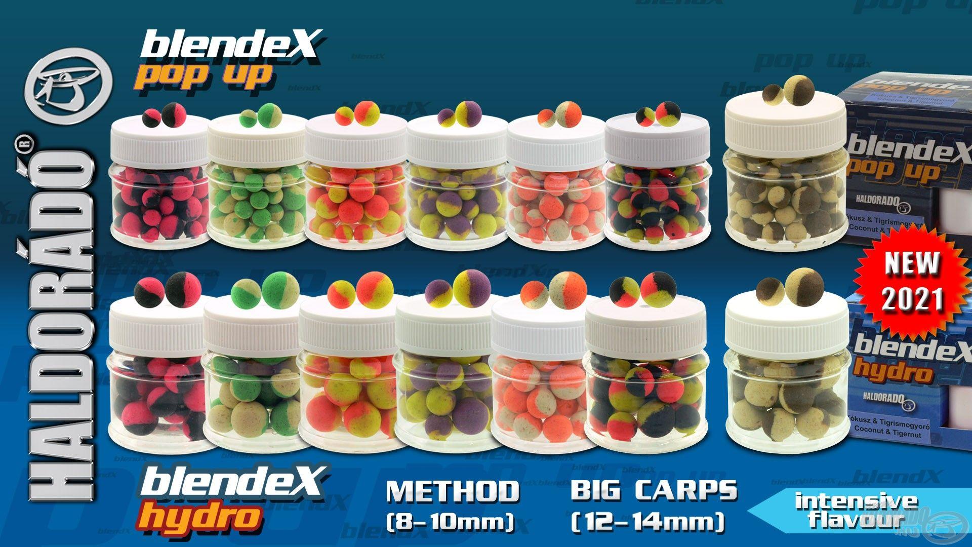 A BlendeX Pop Up és Hydro csalik sorozata is a Kókusz + Tigrismogyoró ízzel egészül ki