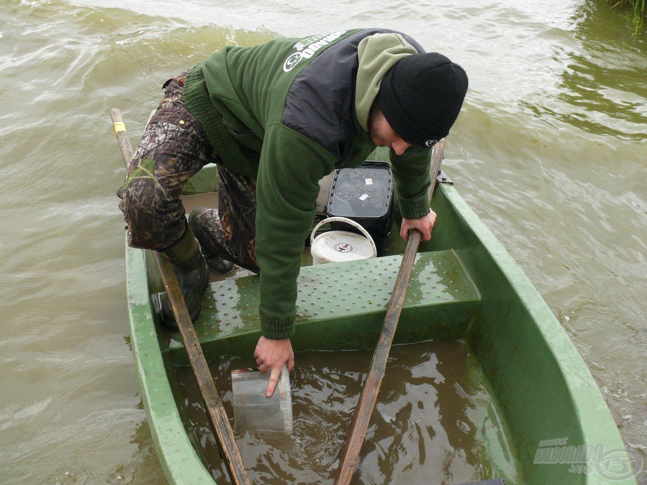 Minden egyes behúzás után így nézett ki a csónak, de a szerelékek a helyükön voltak :P