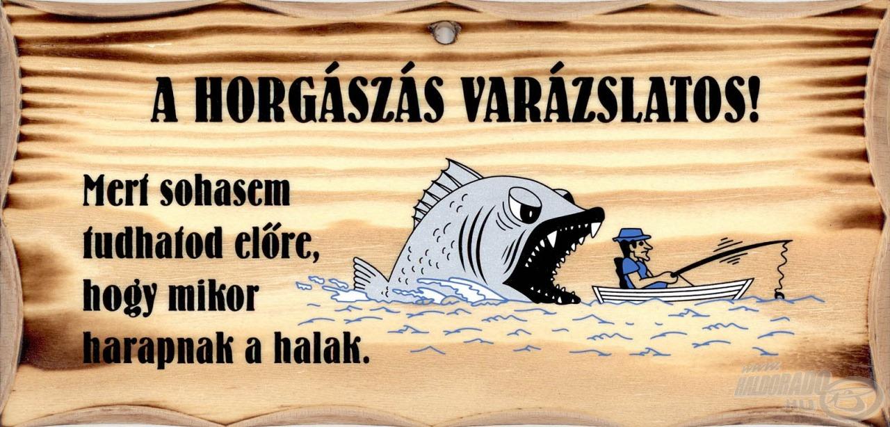 Kalandvágyó horgászok kedvenc szlogenje