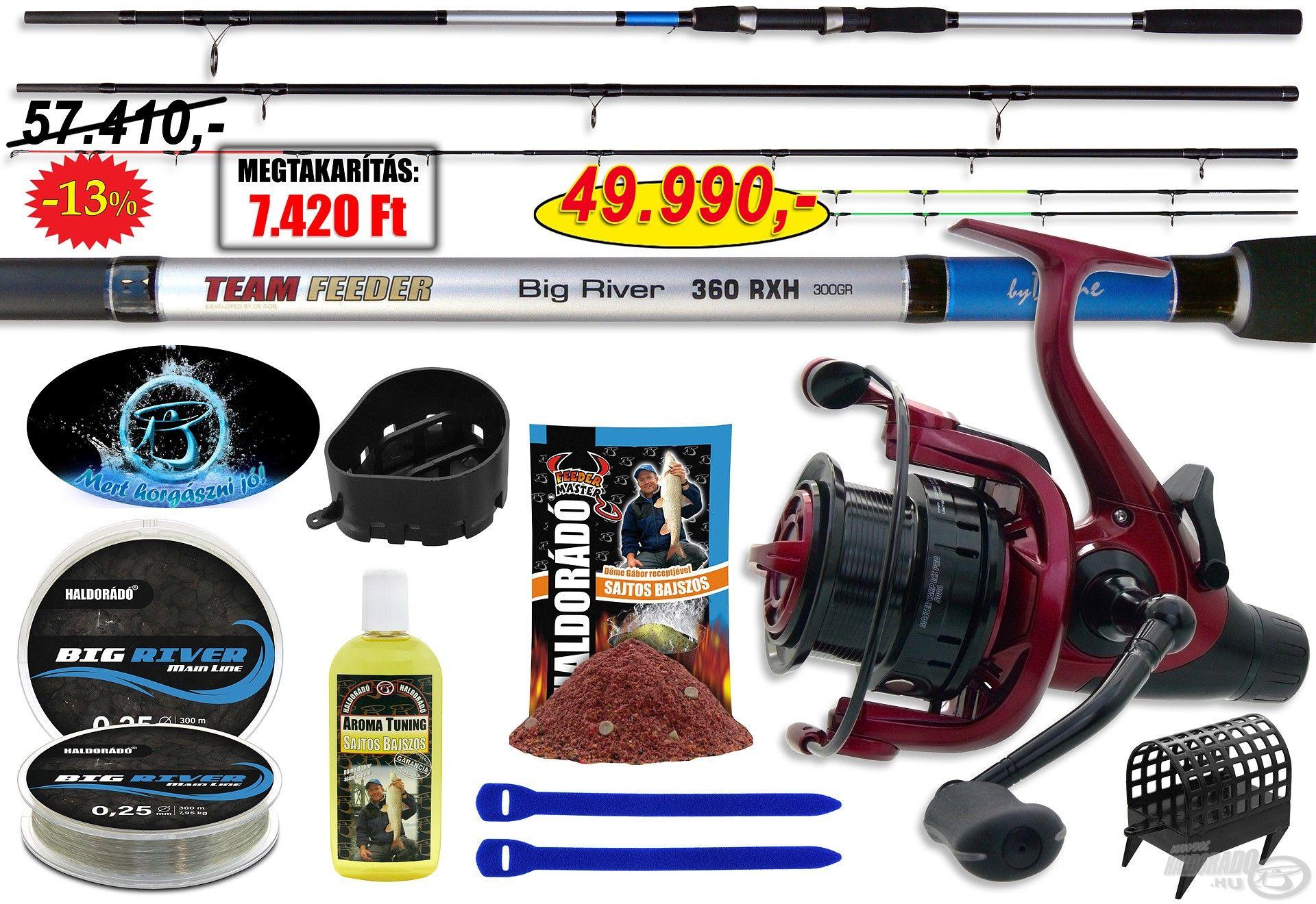 A Big River 390RXH folyóvízi szettet nevéből adódóan a folyóvízi horgászathoz ajánljuk, de emellett tökéletes kapitális halak horgászatához is!