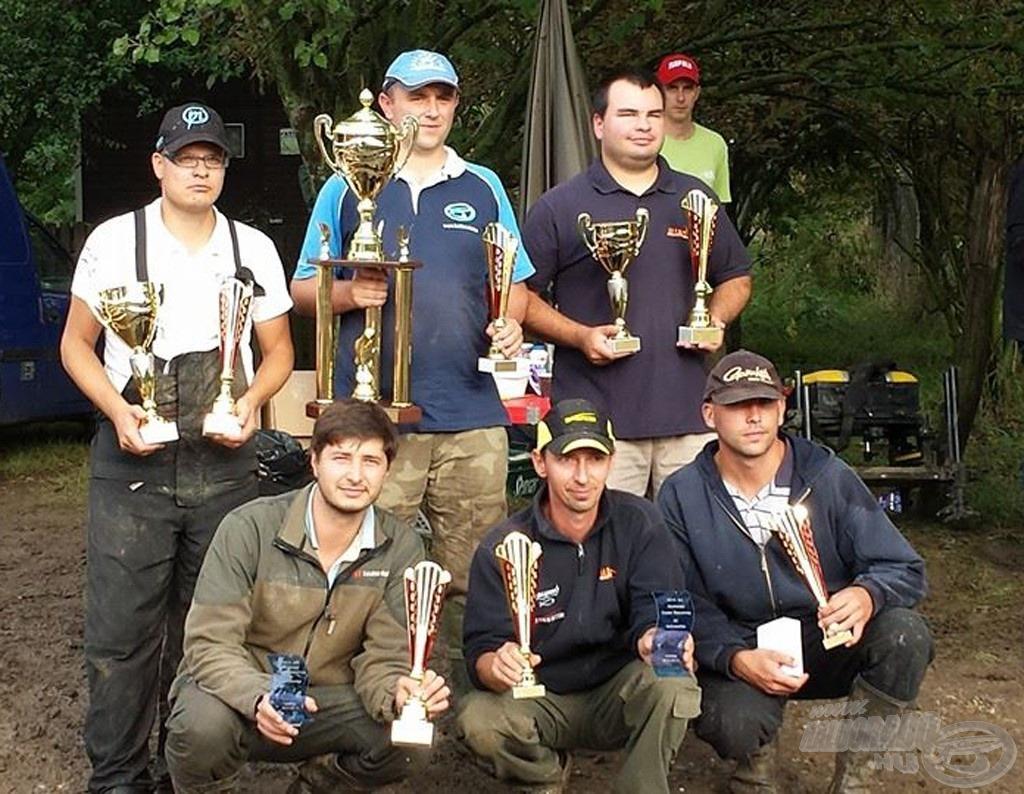 A Bajnokság első 6 helyezettje