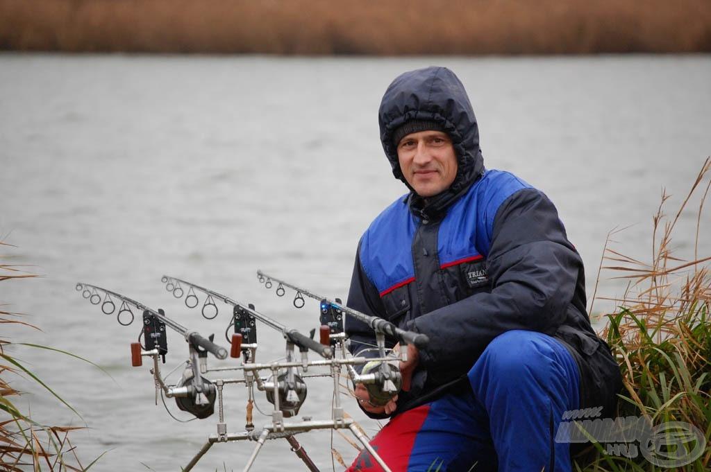 Erre az extrém horgászatra Fazekas Zoltán barátom kísért el