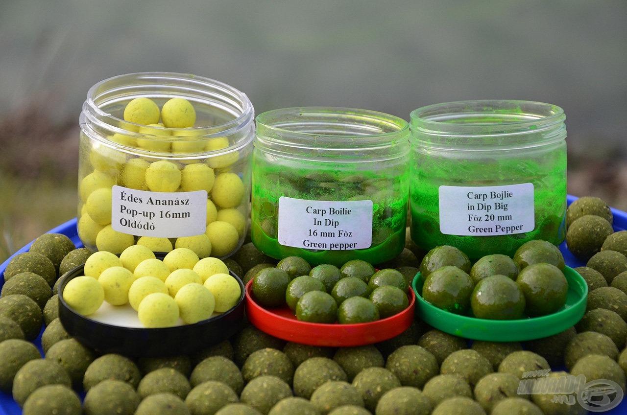 A két legnagyobb halunk megfogásához hozzásegítő csali újdonságok: Green Pepper dipelt bojli + Édes Ananász Pop Up bojli