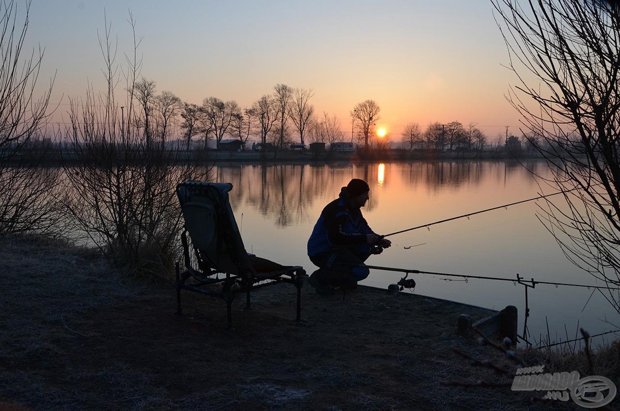 Mindent dér borított, de mit sem számított, mert mi már a horgászatra koncentráltunk!