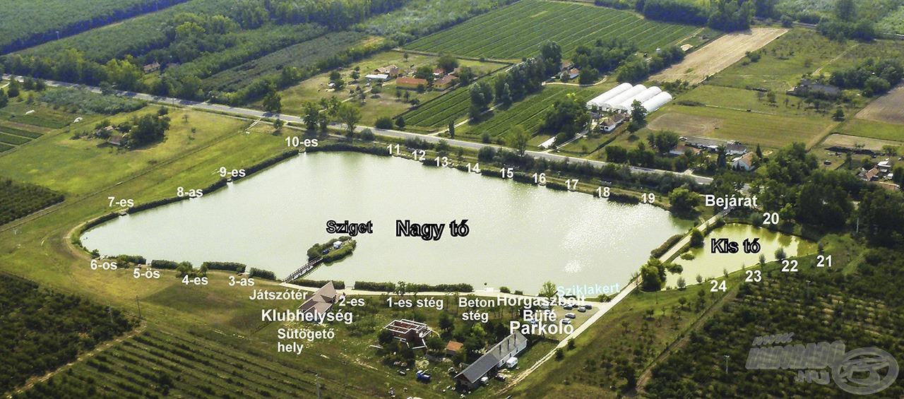 Az igényesen kialakított Szászpa Horgásztó volt horgászatunk helyszíne