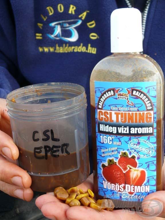 A CSL Tuning hideg vízi aromába áztatott kukorica volt a nap favorit csalija…