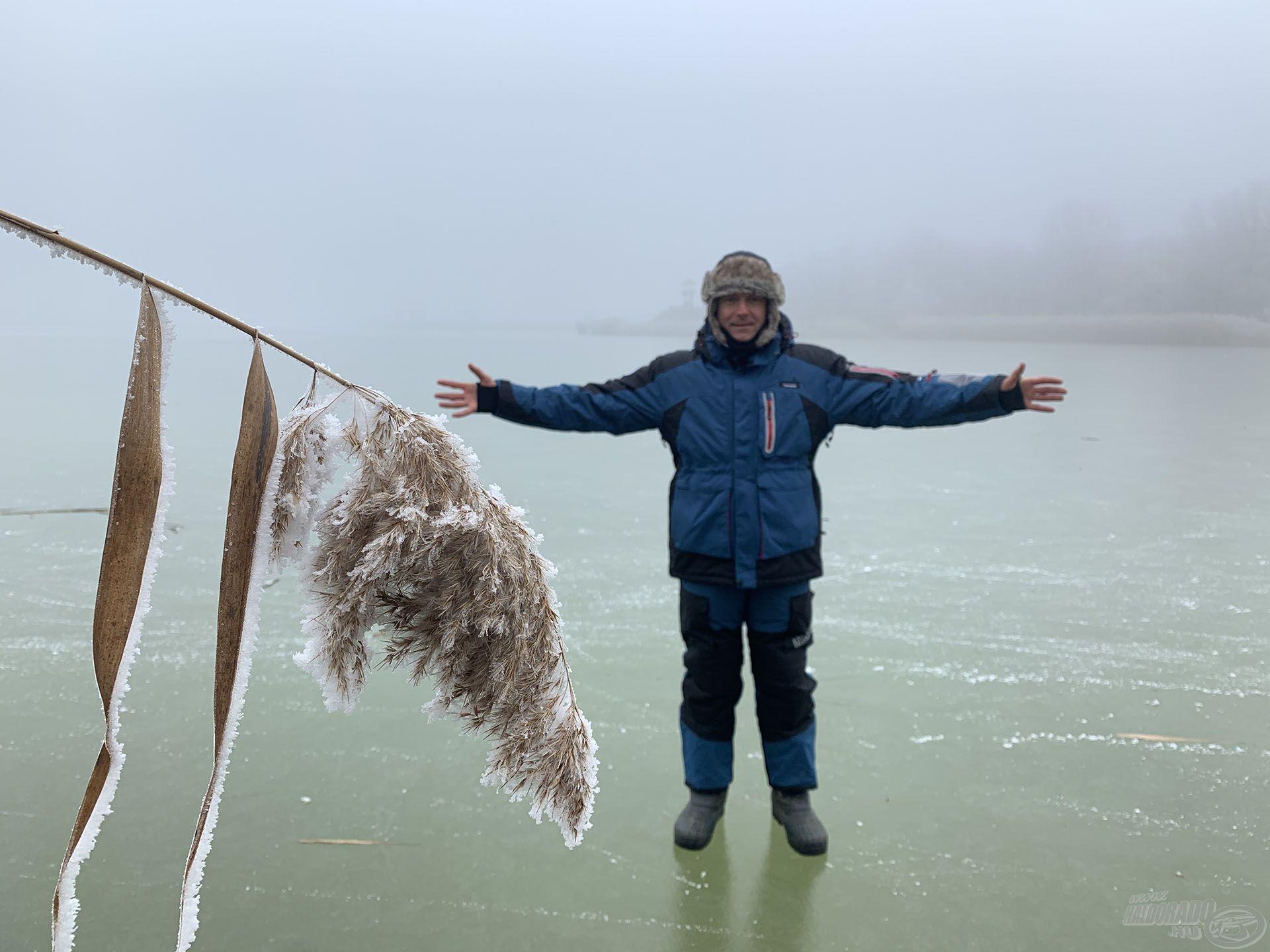 A környékünkön minden tavat jégpáncél borít