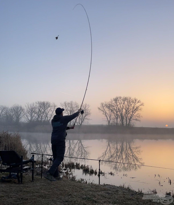 Korán érkeztem, hogy minél előbb megkezdhessem a horgászatot