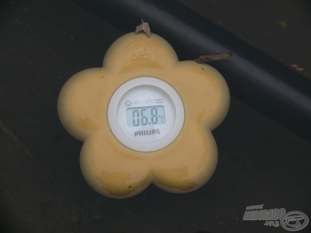 A víz hőmérséklete mindössze 6,8 Celsius-fok volt