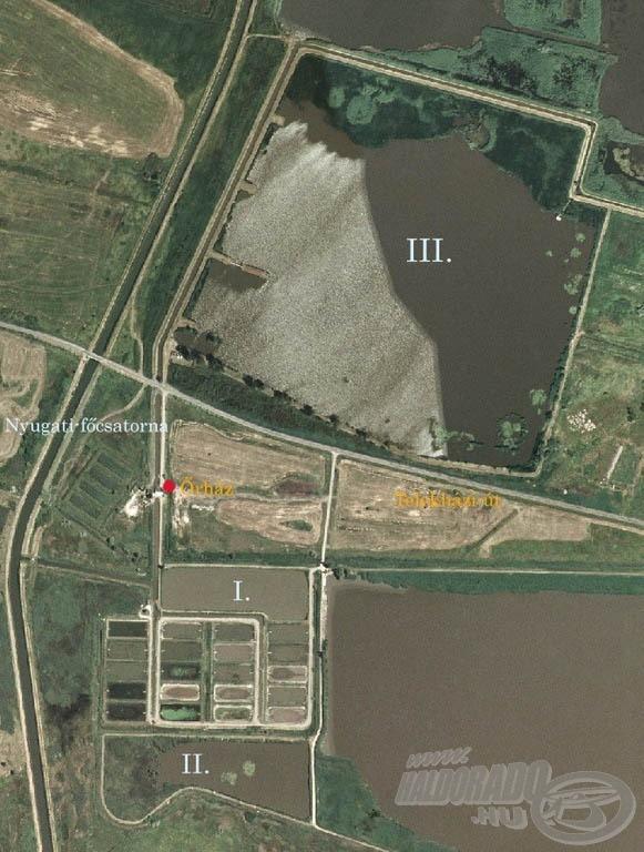 3 tóból áll a meghorgászható terület