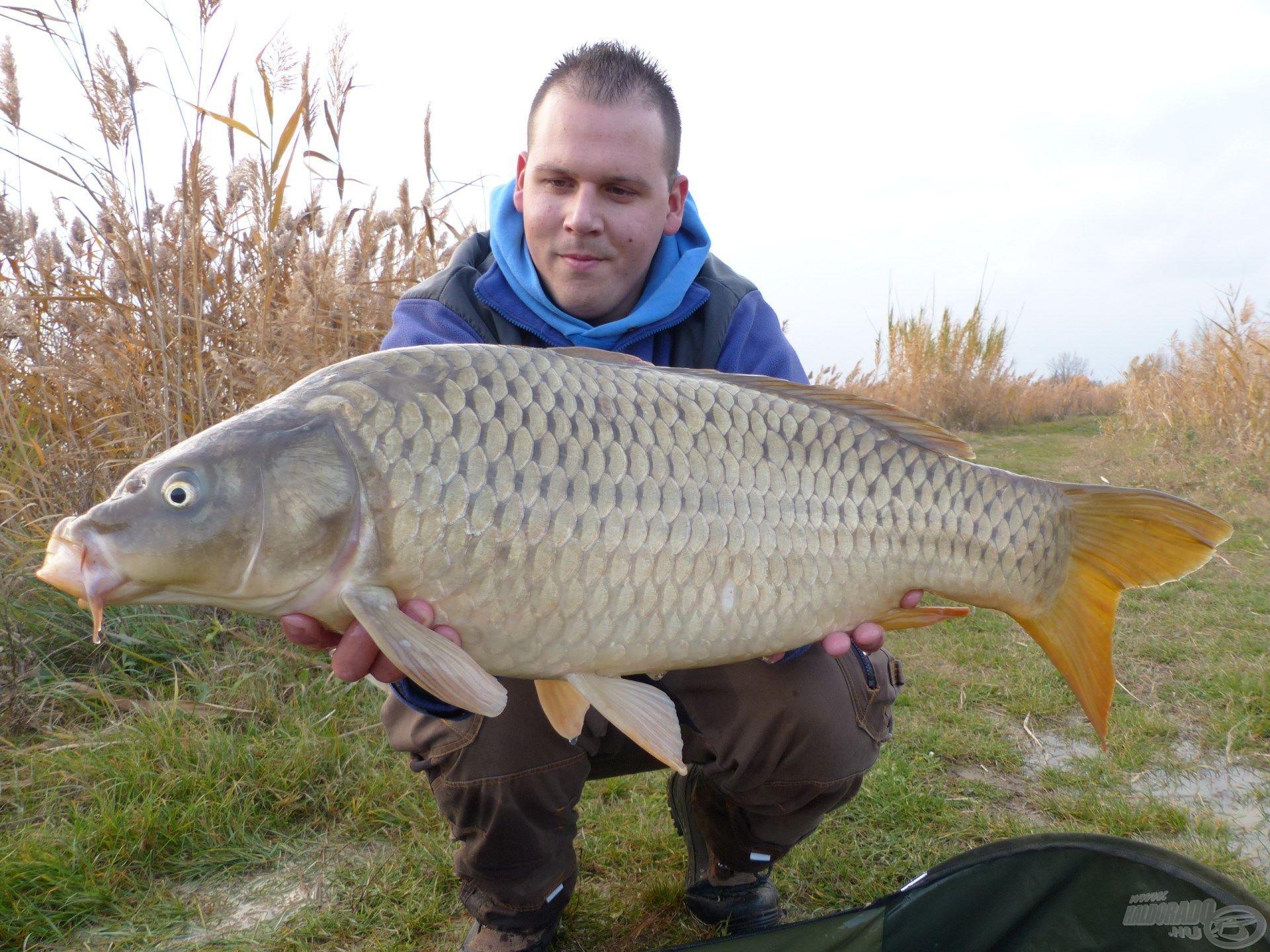 Az újradobást követően hamarosan megérkezett a horgászat utolsó hala is