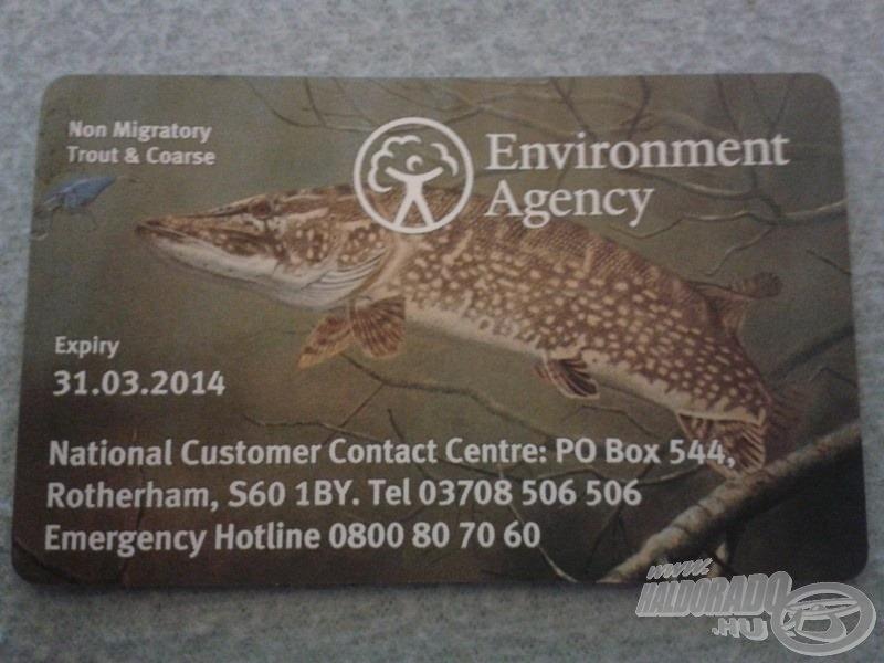 Horgászat Angliában 1. rész - A horgászengedély beszerzése