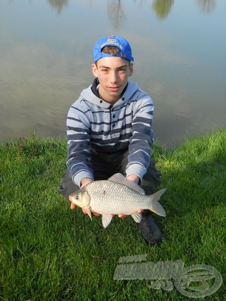 De egy apró változtatás után egyből nagyobb halat tarthattam a kezemben!