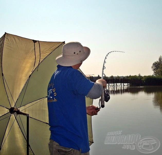 Horgászat rekkenő hőségben