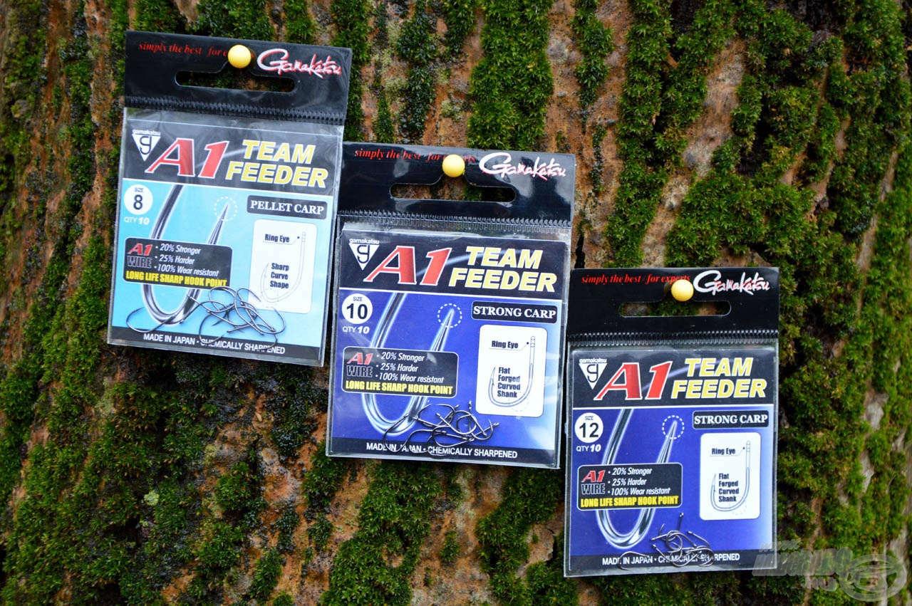 A Gamakatsu A1 Team Feeder horgok már bizonyítottak