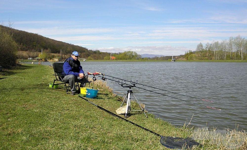 A Cser-tó, az egyik kedvenc horgásztavam. Nem mondom, hogy nem fáztam