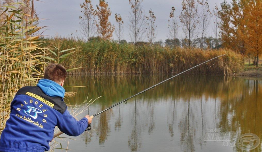 A kapás nem maradt el. A fárasztás öröme ilyenkor felértékelődik, és jobban tudunk örülni akár a kisebb halaknak is