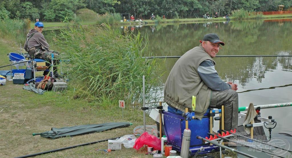 A Nánai Fishing Team tagjai szinte végig rakós bottal horgásztak…