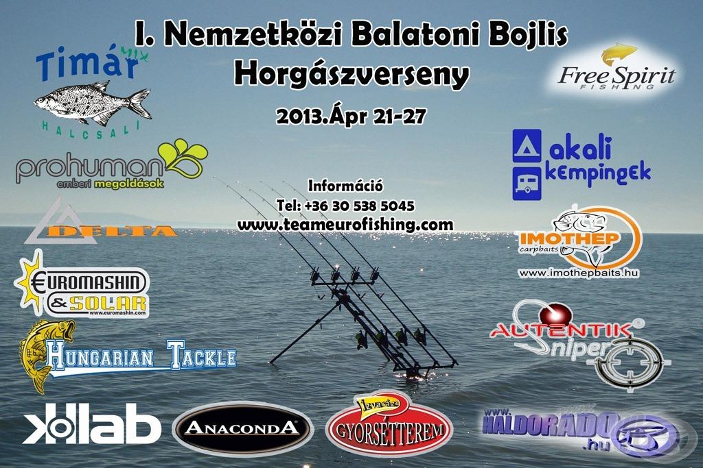 A Team Eurofishing szervezésében kerül megrendezésre az I. NEMZETKÖZI BALATONI BOJLIS HORGÁSZVERSENY