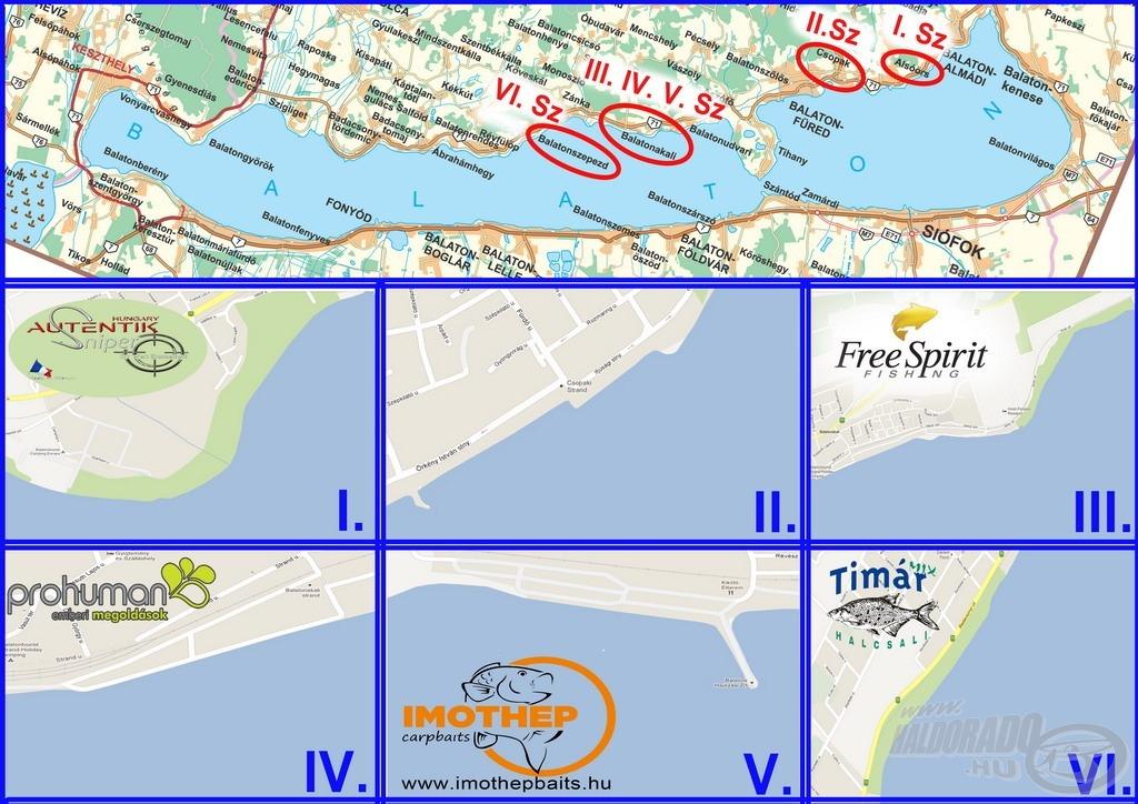 A verseny térképe