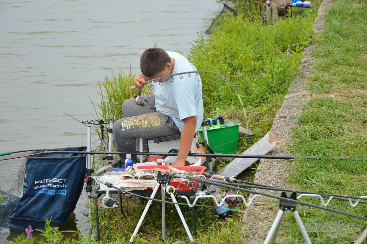 Szabó Mátyás szép, kiegyensúlyozott horgászatot mutatott be