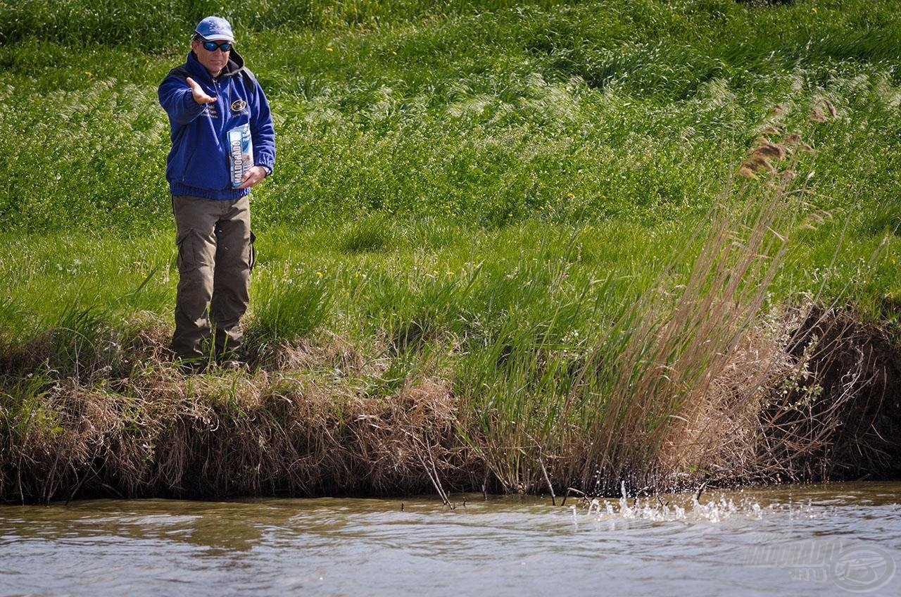Minden horgászat előtt 1-2 kg mag mix képezi az alapot