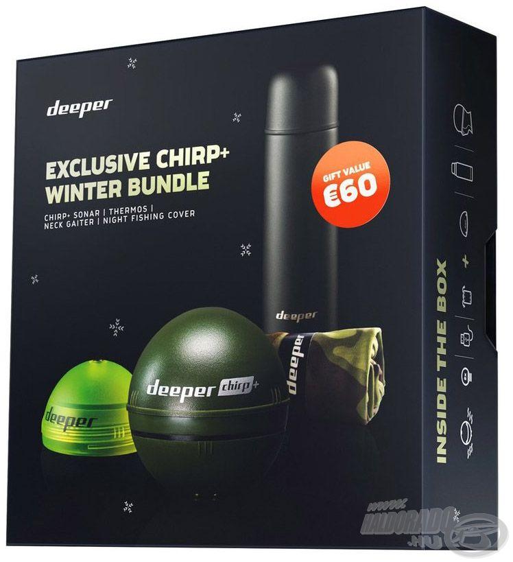 Íme, a Deeper Chirp+ Winter limitált kiadású halradar szettje
